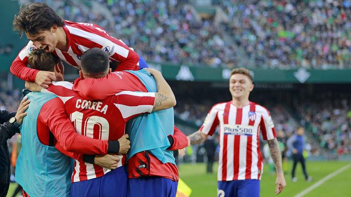 1-2. Correa devuelve la sonrisa al Atlético ante el Betis
