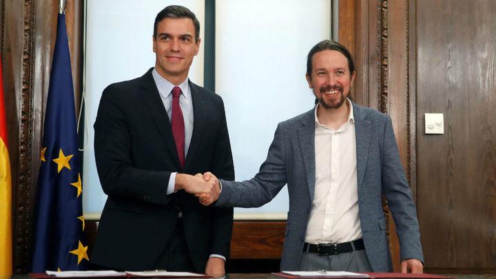 Pedro Sánchez y Pablo Iglesias presentan su programa de Gobierno