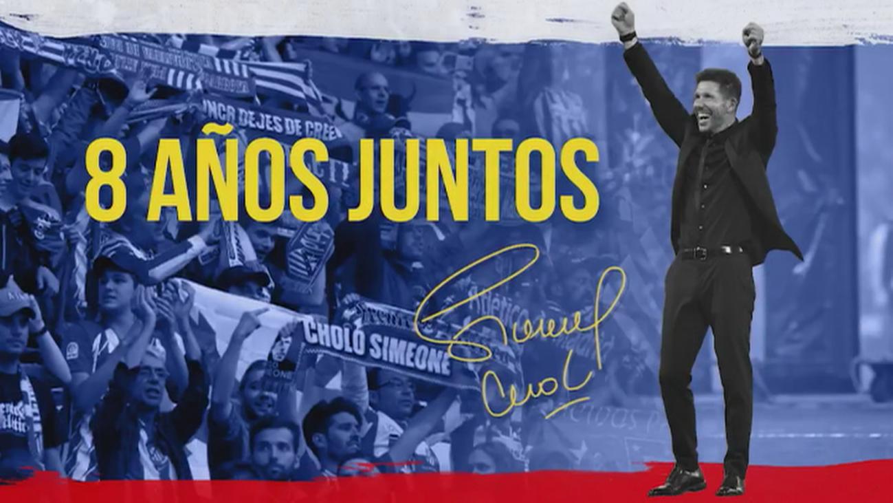 Se cumplen ocho años de la llegada de Simeone al Atlético