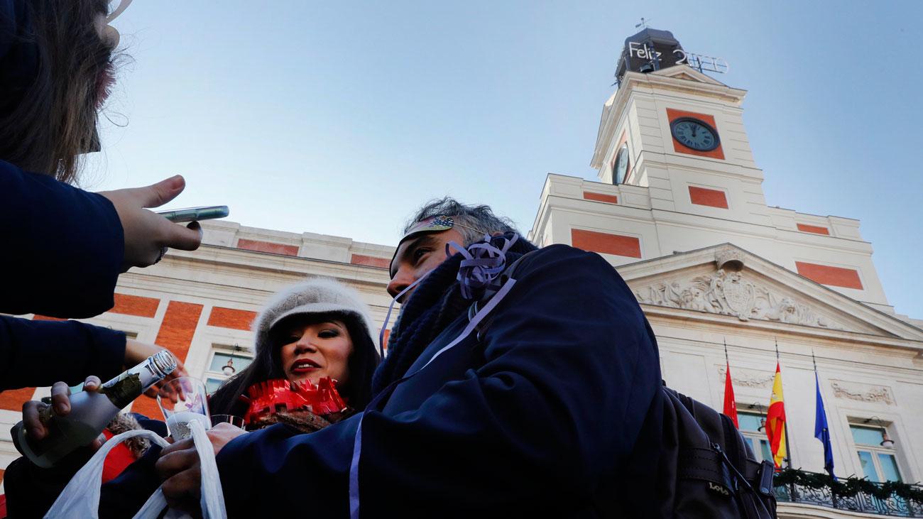 Último ensayo en la Puerta del Sol antes de las campandas