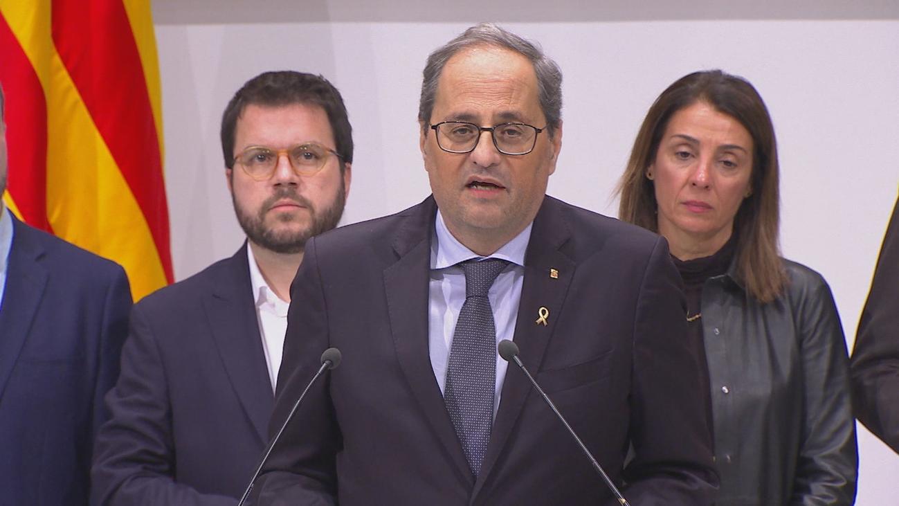 """""""Soy diputado y presidente"""", asegura Torra, tras lo que considera un """"golpe de Estado contra las instituciones catalanas"""""""