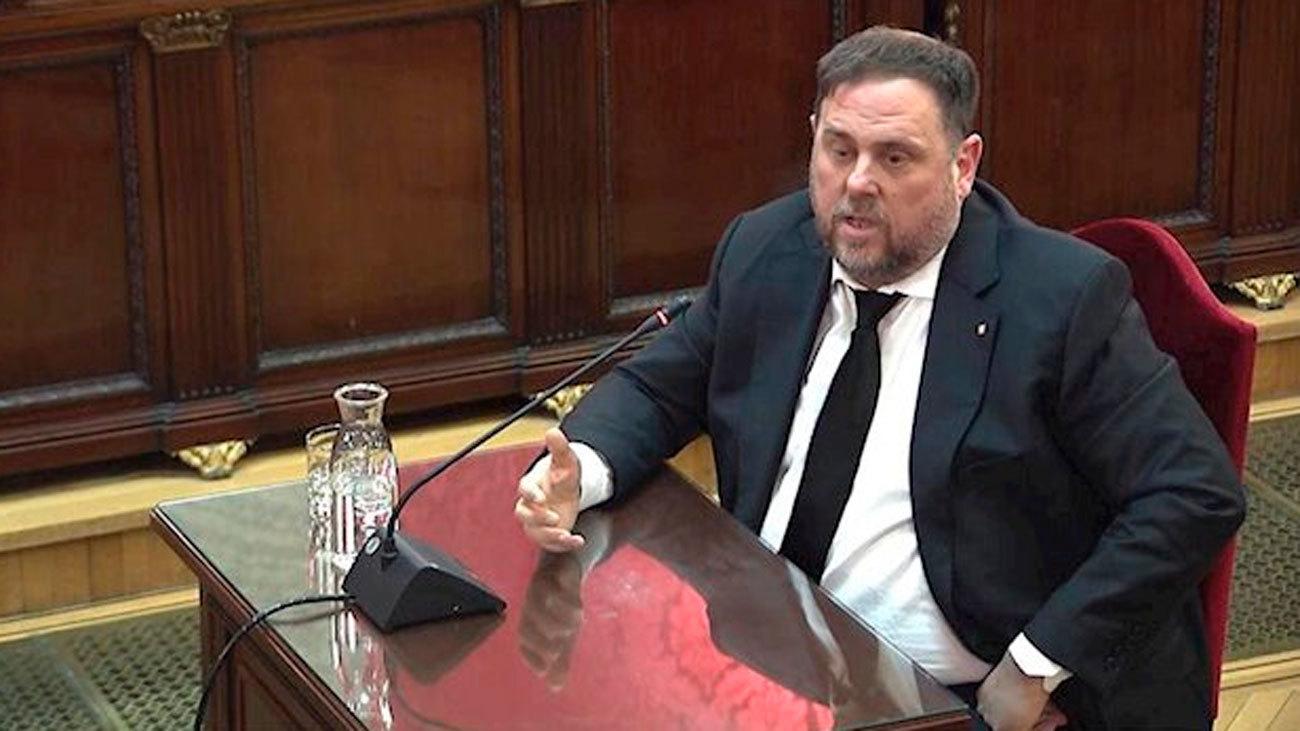 Oriol Junqueras en el 'juicio del procés'