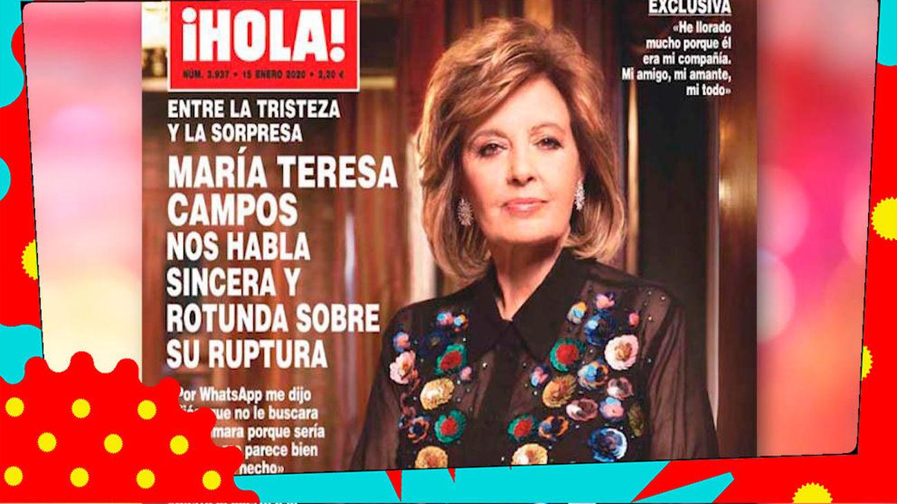 """María Teresa Campos: """"Cierro la puerta a la reconciliación"""""""