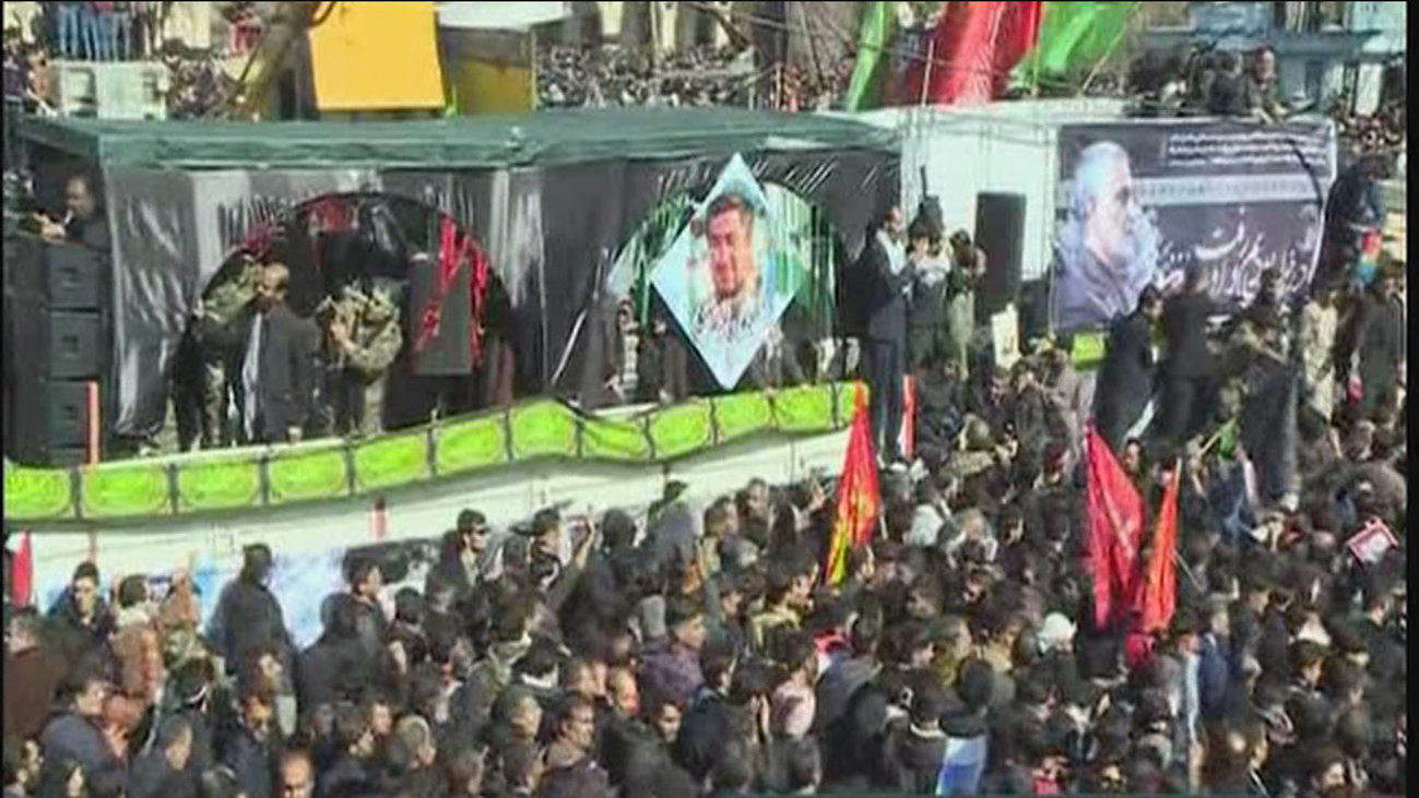 Al menos 50 muertos en una estampida en el  funeral de Soleimaní en Irán