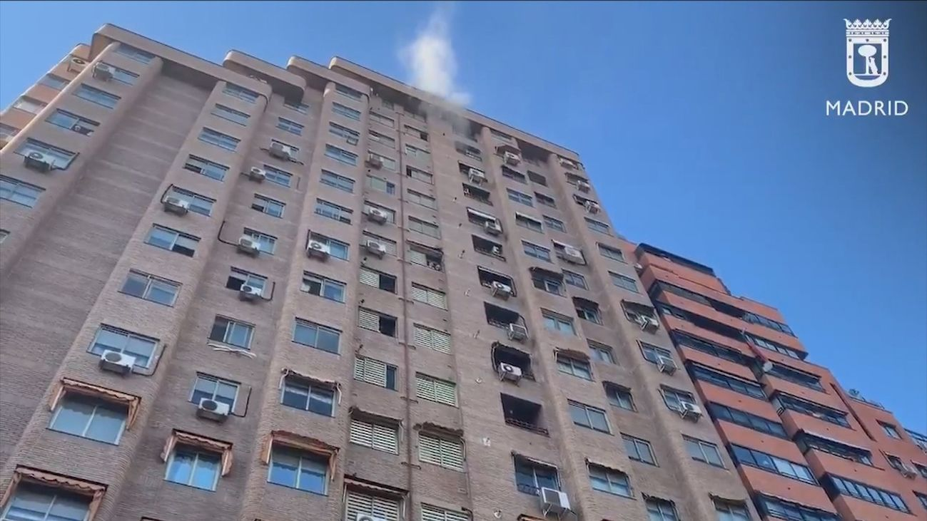 Desalojado un edificio en Chamartín con 3 heridos leves