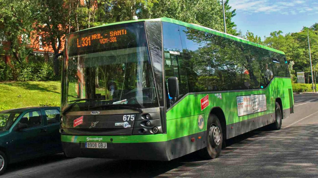 Autobús en Rivas