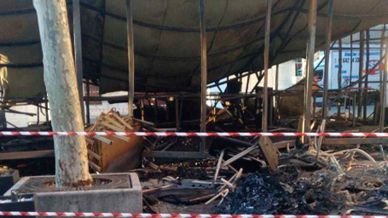 Devastado por el fuego el belén de Leganés