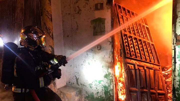 Incendio de una chatarrería en un polígono de Leganés sin heridos