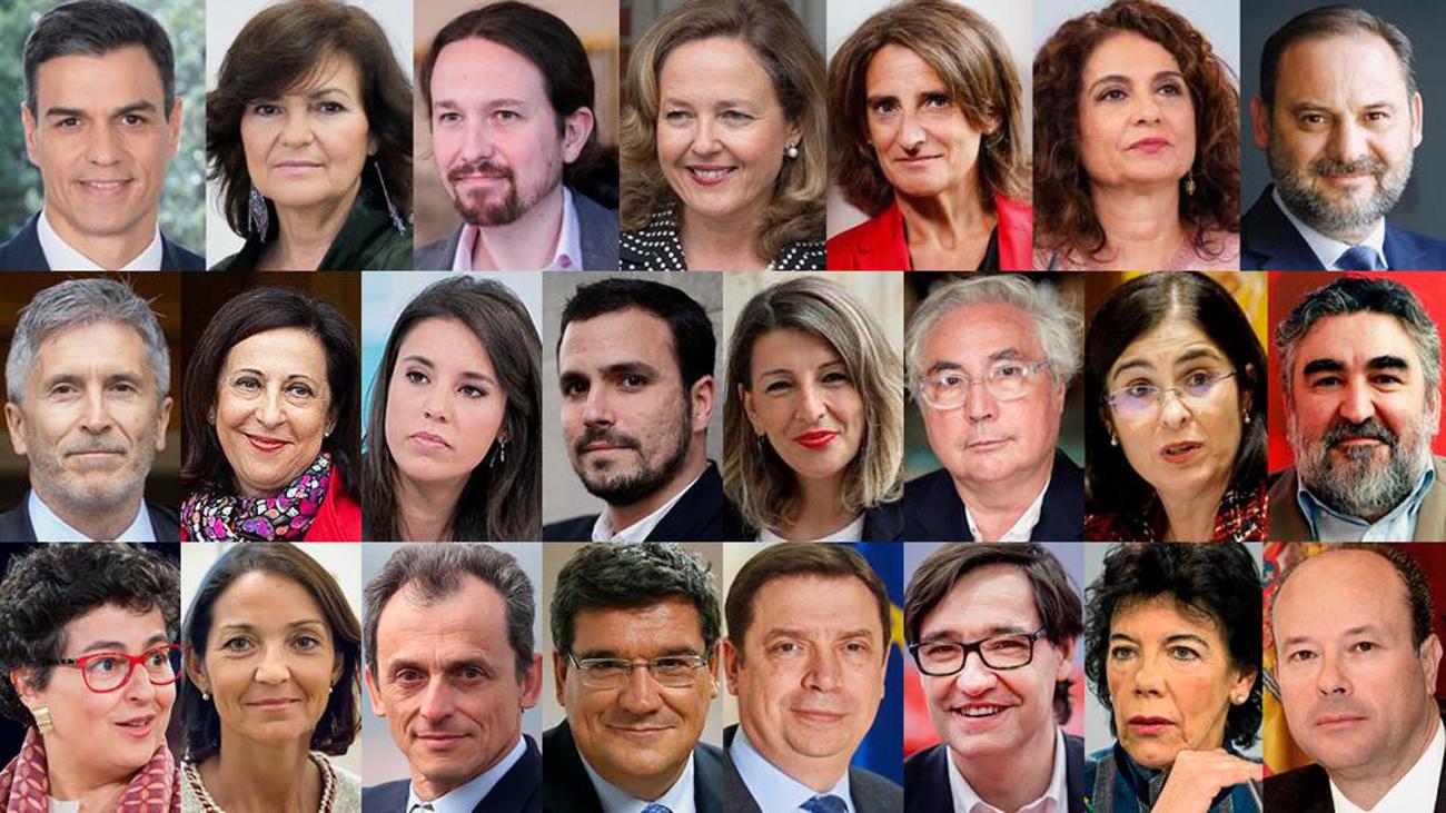 Todos los ministros de Pedro Sánchez