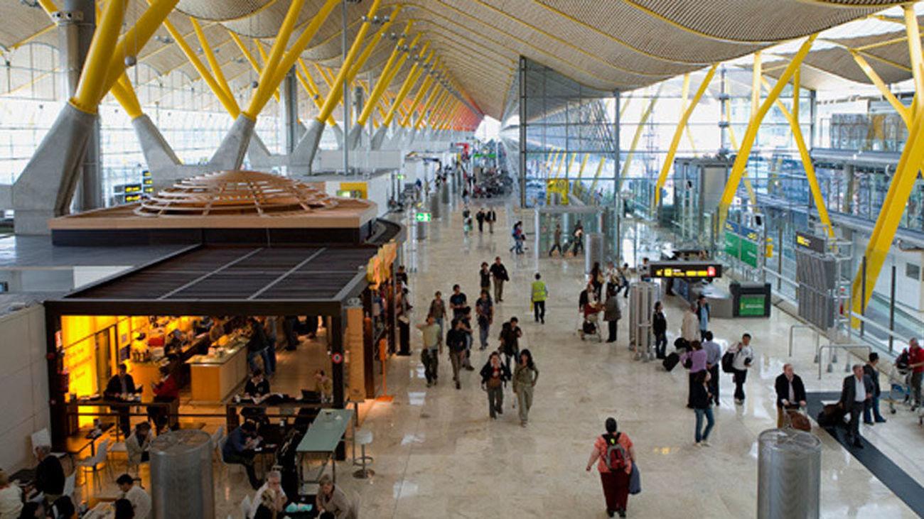 Vista interior del  Aeropuerto Adolfo Suárez Madrid-Barajas