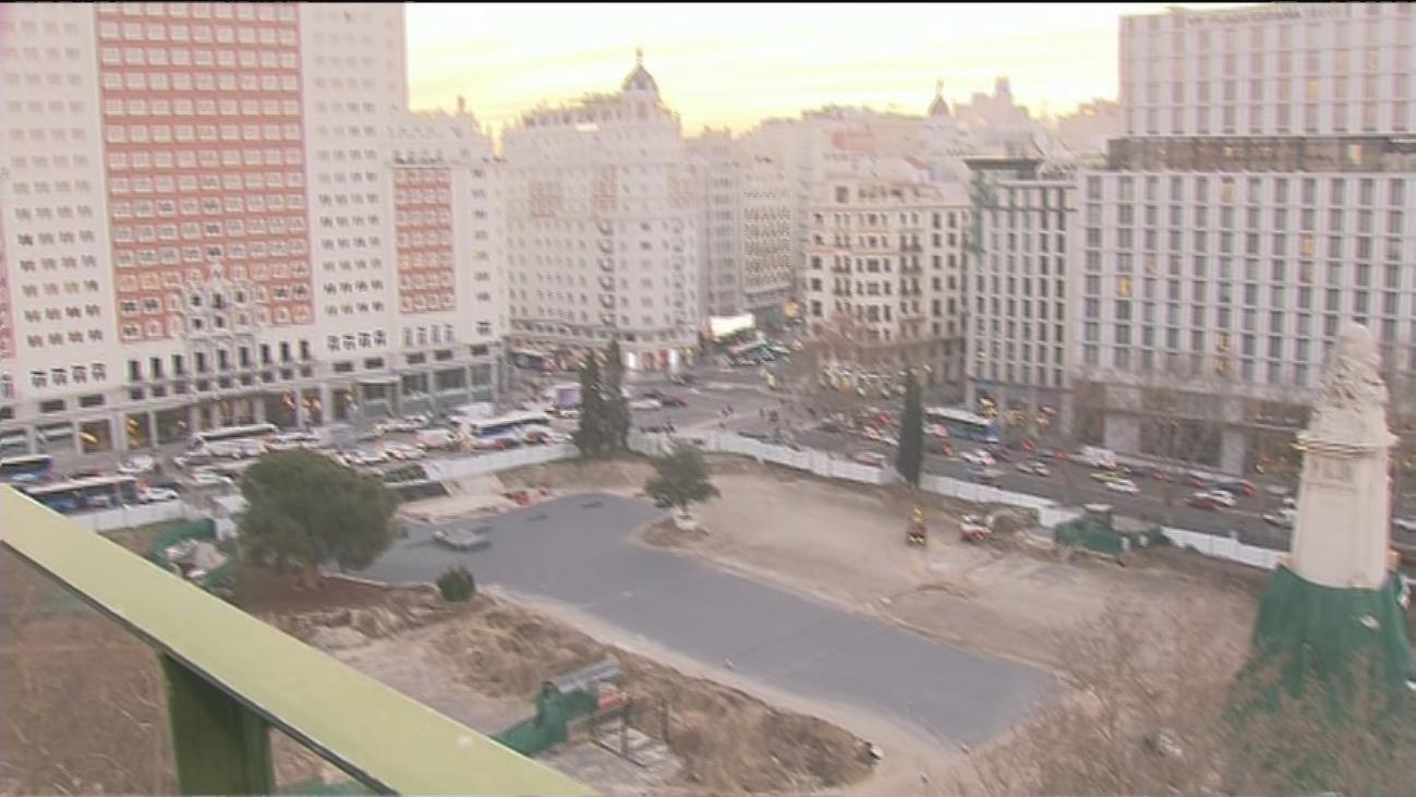 Así van las obras de Plaza de España, a vista de pájaro