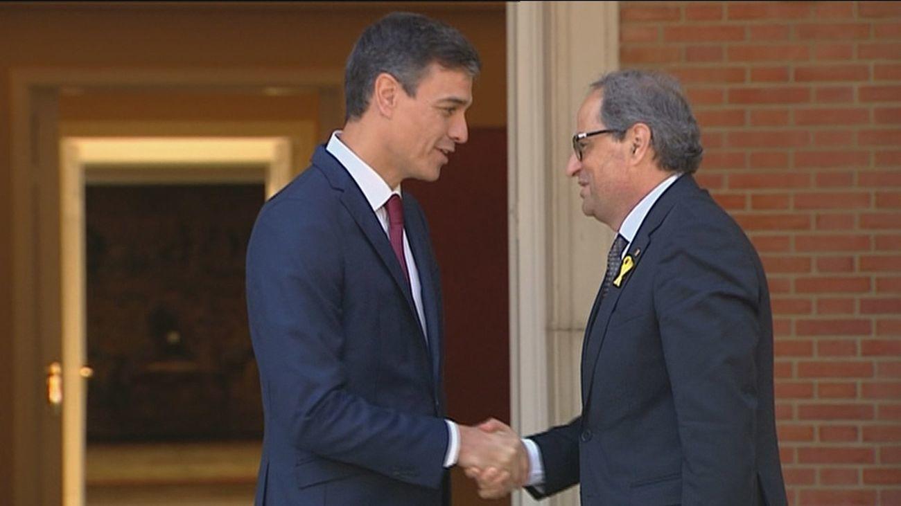 Pedro Sánchez y Torra