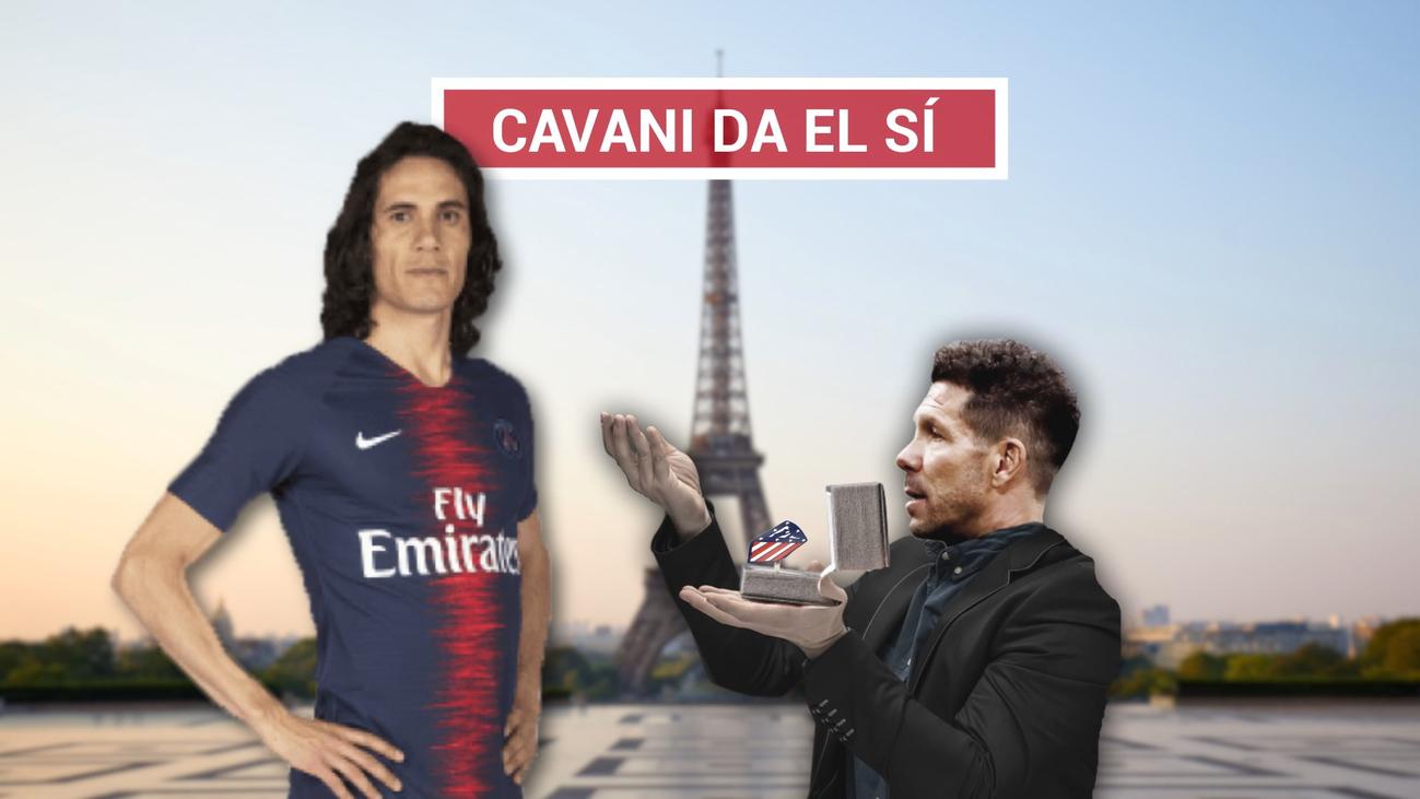 Cavani tiene decidido ir al Atlético y solo falta el acuerdo entre clubes