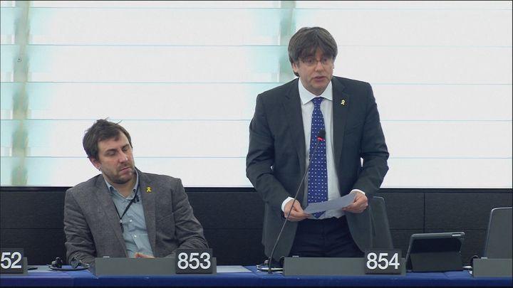 La Eurocámara anuncia el inicio del suplicatorio contra Puigdemont y Comín