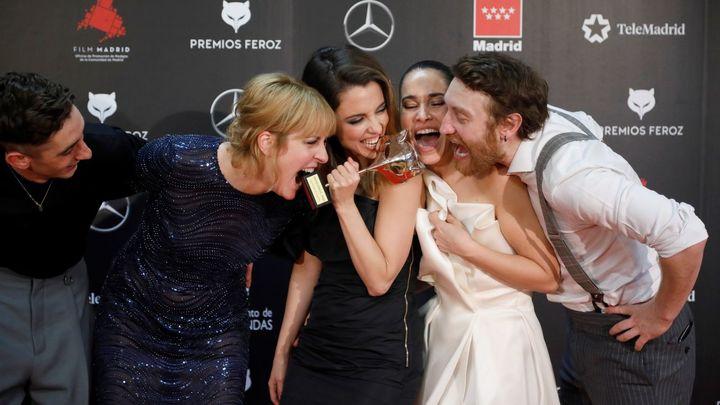 Fiesta en los Premios Feroz 2020
