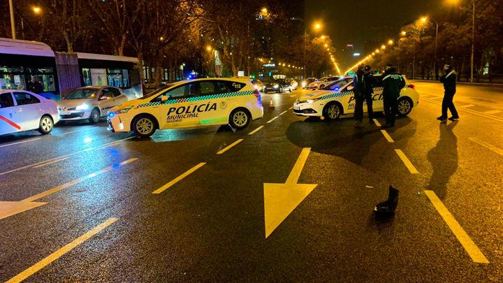 Un joven de 24 años, herido muy grave tras sufrir un atropello en el Paseo de la Castellana