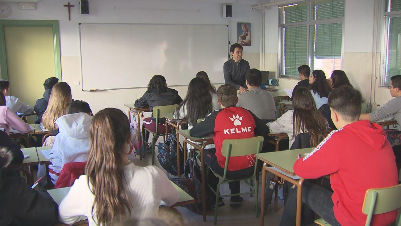 Clase en un instituto en Madrid
