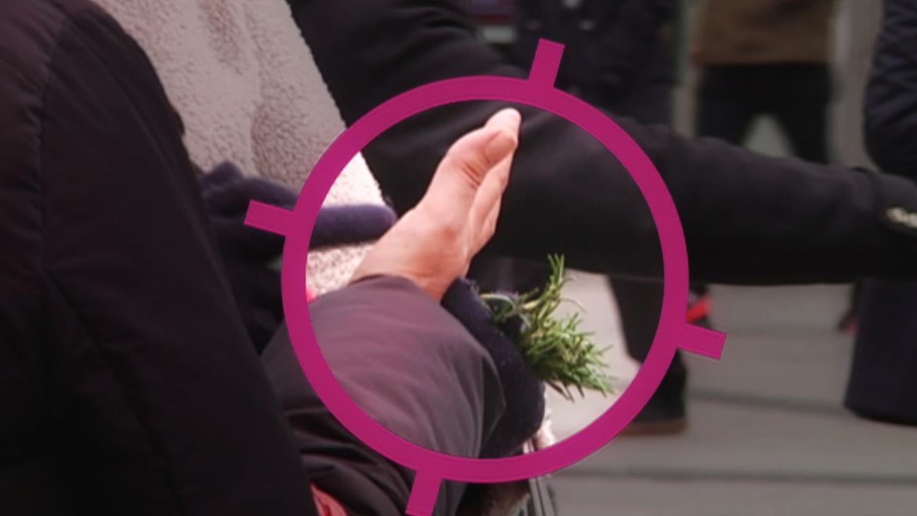 El negocio de las mujeres que reparten romero en la Puerta del Sol
