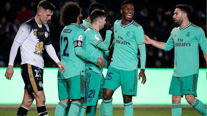 1-3. El Real Madrid, a octavos de la Copa tras ganar al Unionistas