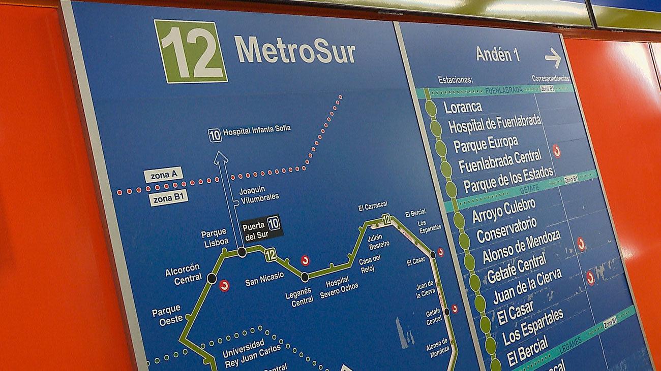 Siete estaciones de Metrosur cierran por obras este verano