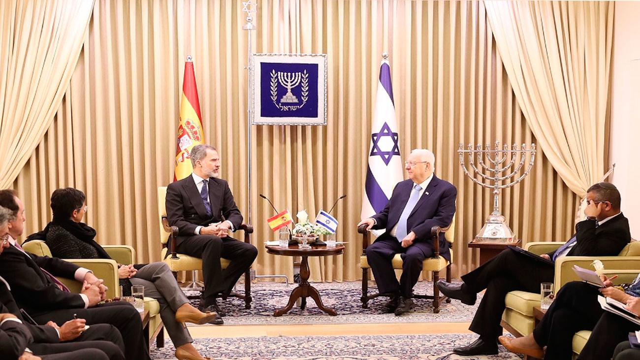 El rey se reúne con el presidente de Israel, Reuven Rivlin