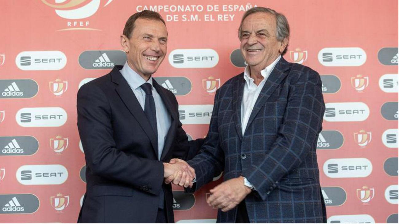 Emilio Butragueño y Luis Blasco
