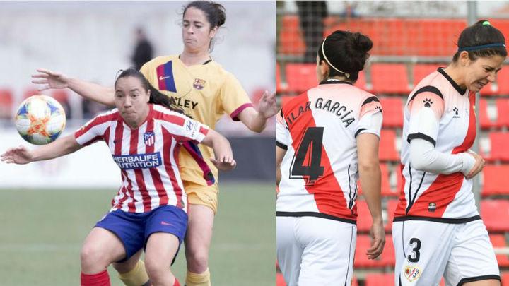 El Atleti femenino empata con el Barça y el Rayo pierde con el Levante