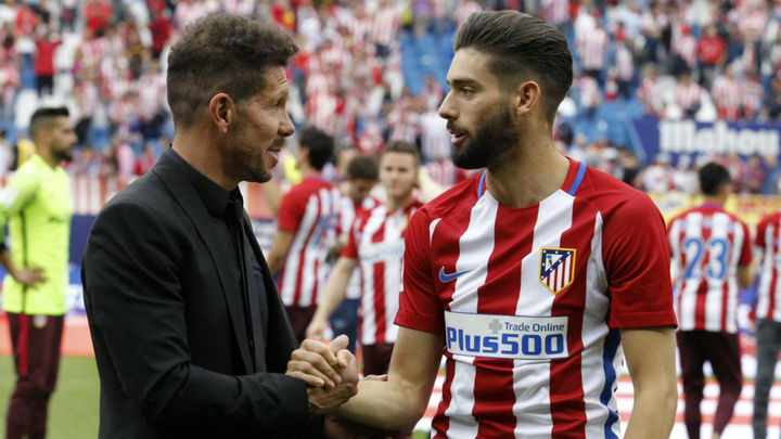 "Simeone: ""De Carrasco me gustaron sus ganas de querer venir"""
