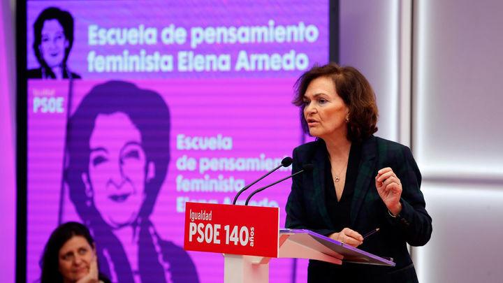 Calvo asegura que el feminismo constituye  la centralidad de la acción del Gobierno