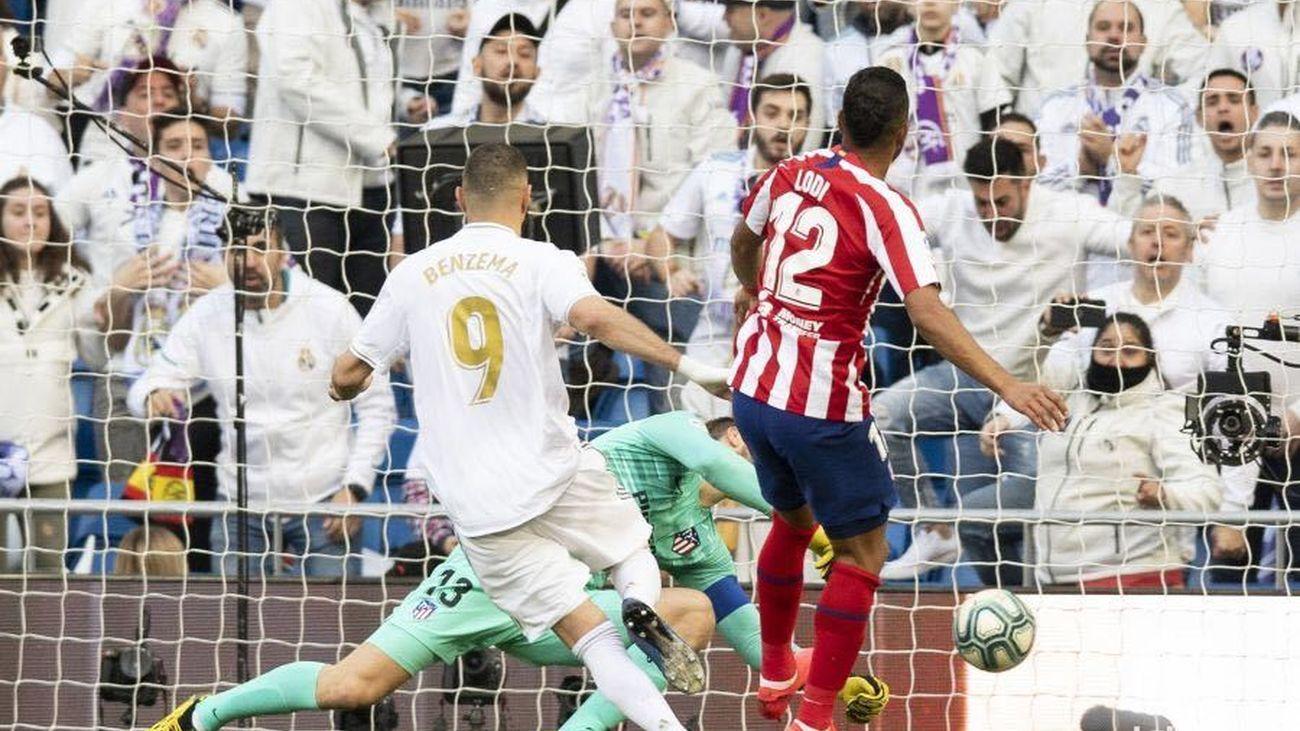 1-0. Así fue el gol de Benzema al Atlético