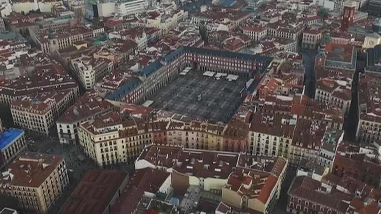 Denunciado por volar un dron sin autorización sobre la Plaza Mayor de Madrid