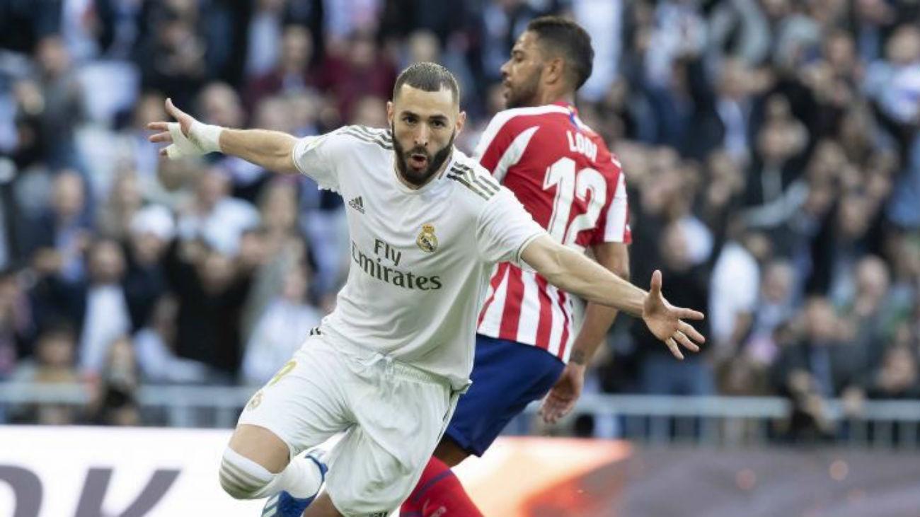 Benzema ante el Atlético de Madrid
