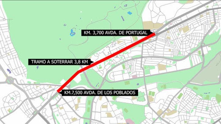 El soterramiento de la A-5 costará tres veces más que el tramo del Calderón
