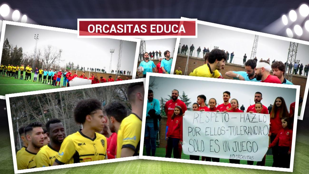 La AD Orcasitas se vuelca contra la violencia en el fútbol