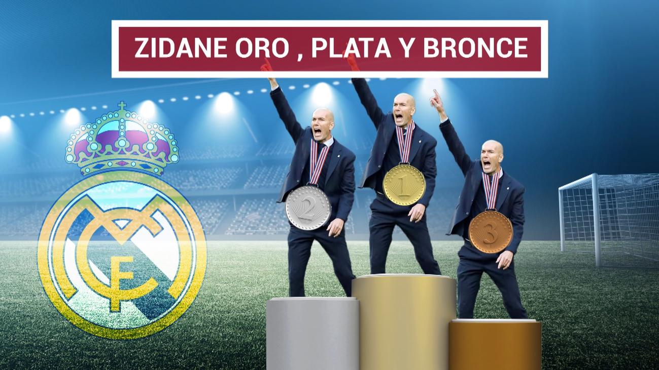 Zidane, en el podio de los mejores entrenadores de la historia del Real Madrid