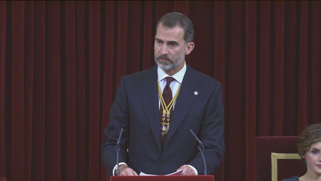 Felipe VI preside en el Congreso la apertura de la legislatura
