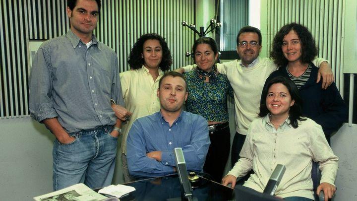 35 aniversario de Onda Madrid: Foto de grupo en el estudio de Onda Madrid en Ciudad de la Imagen