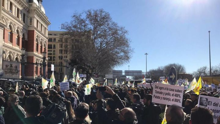 Manifestación de agricultores y ganaderos