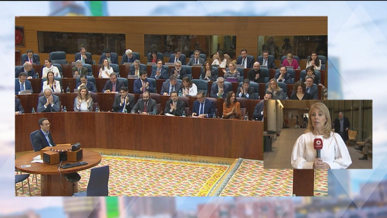 Nuevo rifirrafe por el 'pin parental' entre Ayuso y Monasterio en la Asamblea de Madrid