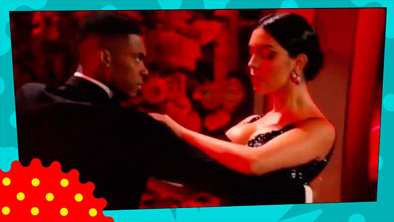 Georgina baila en Sanremo y a Cristiano se le cae la baba