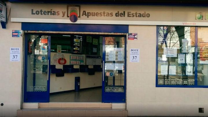 Un único acertante, en Villaverde Alto, gana 130 millones de euros en el EuroMillones