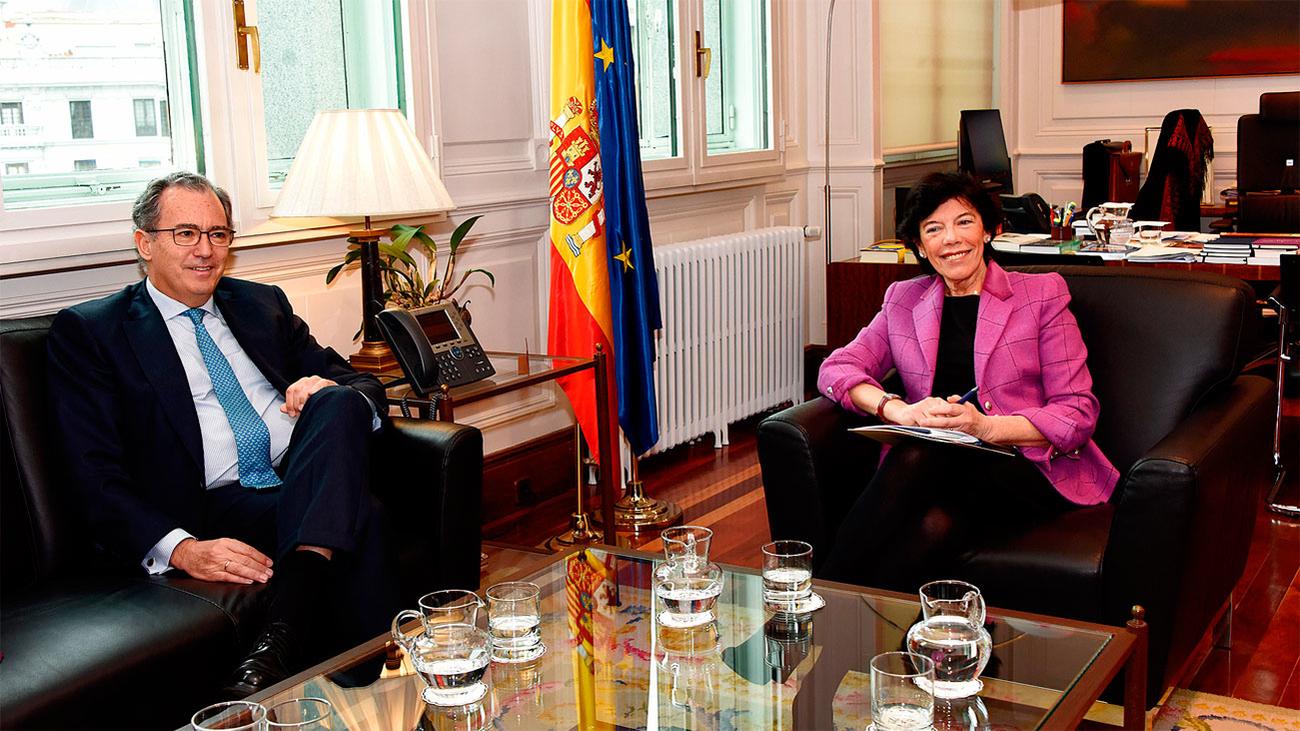 Ossorio y Celaá intercambian preocupaciones sobre la educación