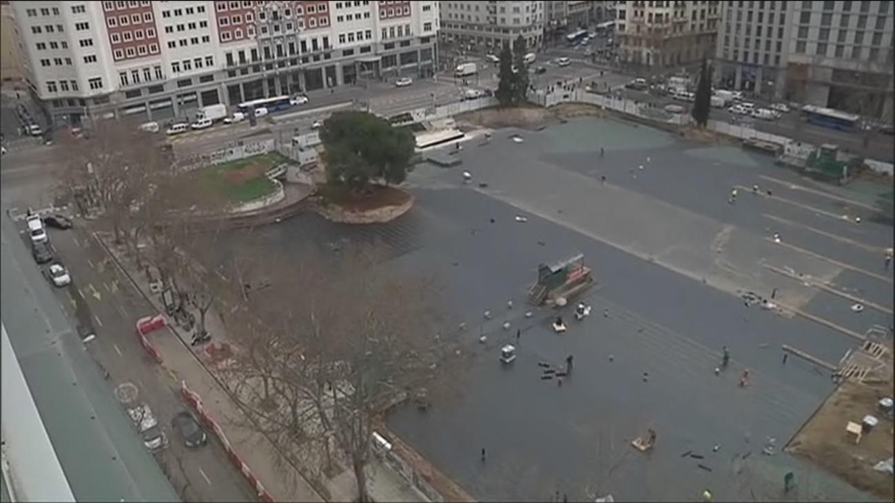 Las obras en Plaza de España siguen cumpliendo plazos