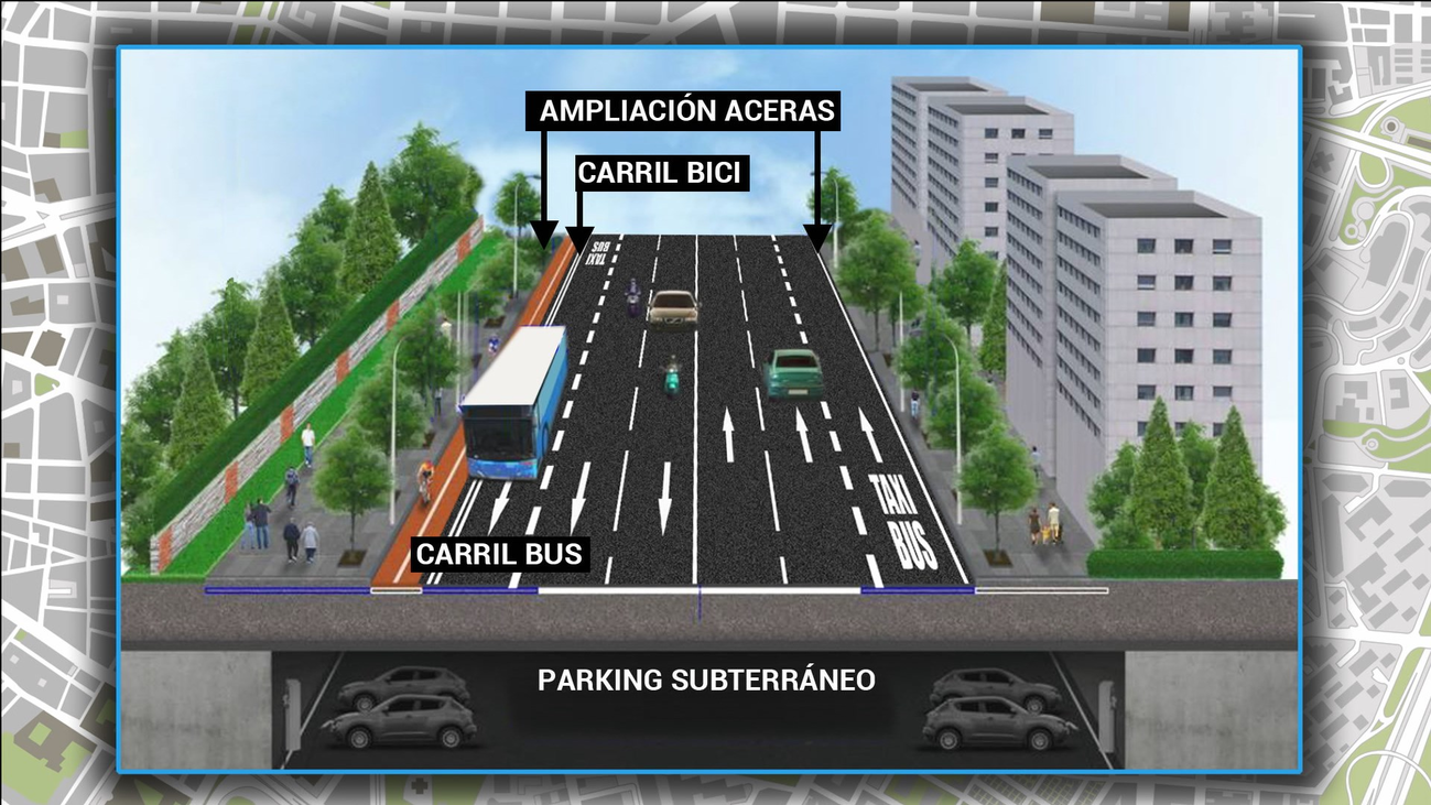 Menos carriles y más aceras, carril bici y parking para la nueva avenida de Menéndez Pelayo