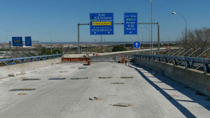 Afecciones al tráfico hasta junio enel enlace de la M-40 y la M-607