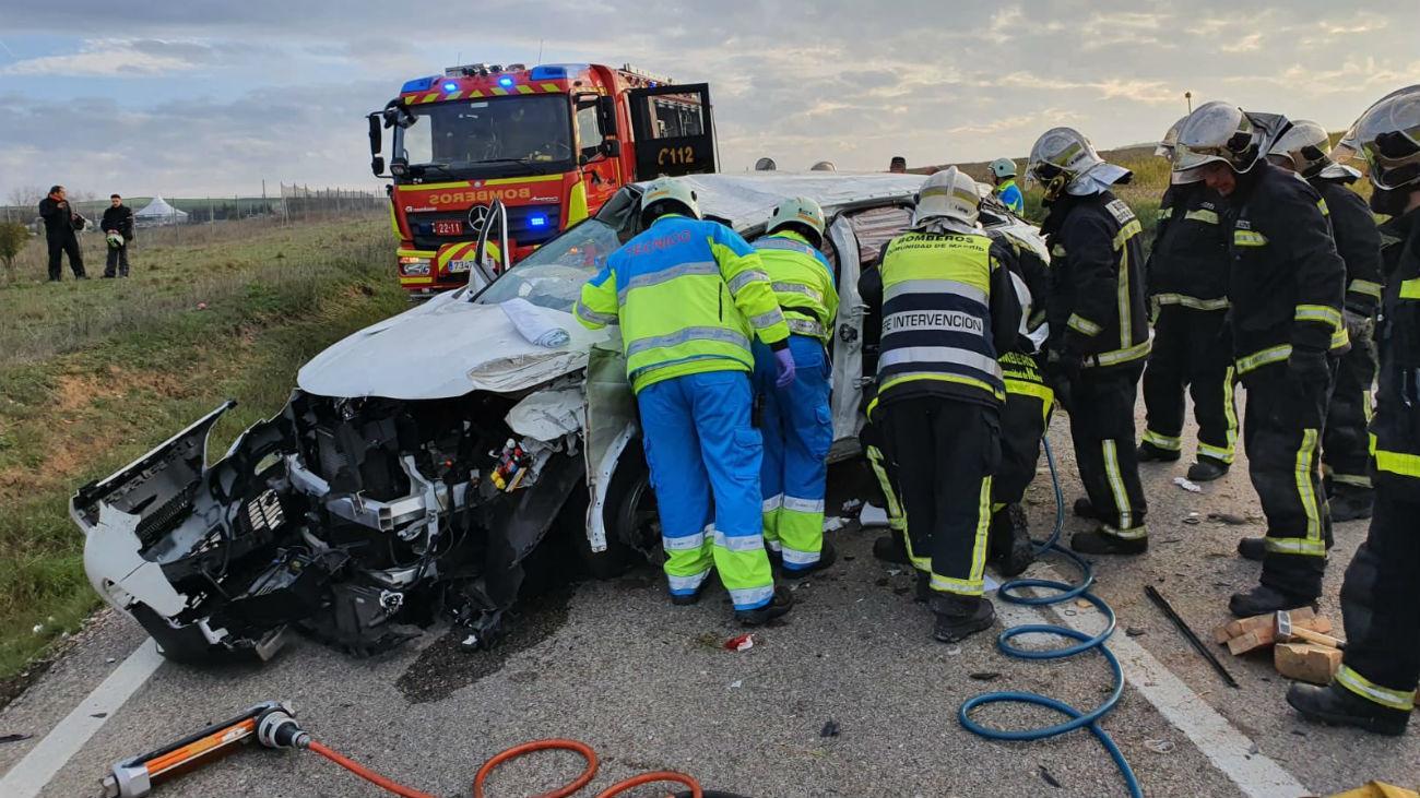 Accidente frontal en Algete (Foto: @parque_11)