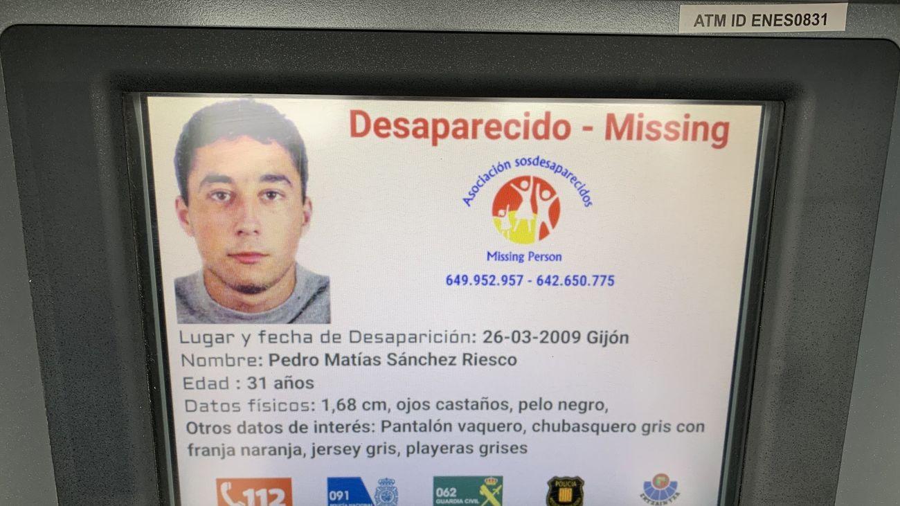 Alerta de Pedro Matías en un cajero | SOS Desaparecidos