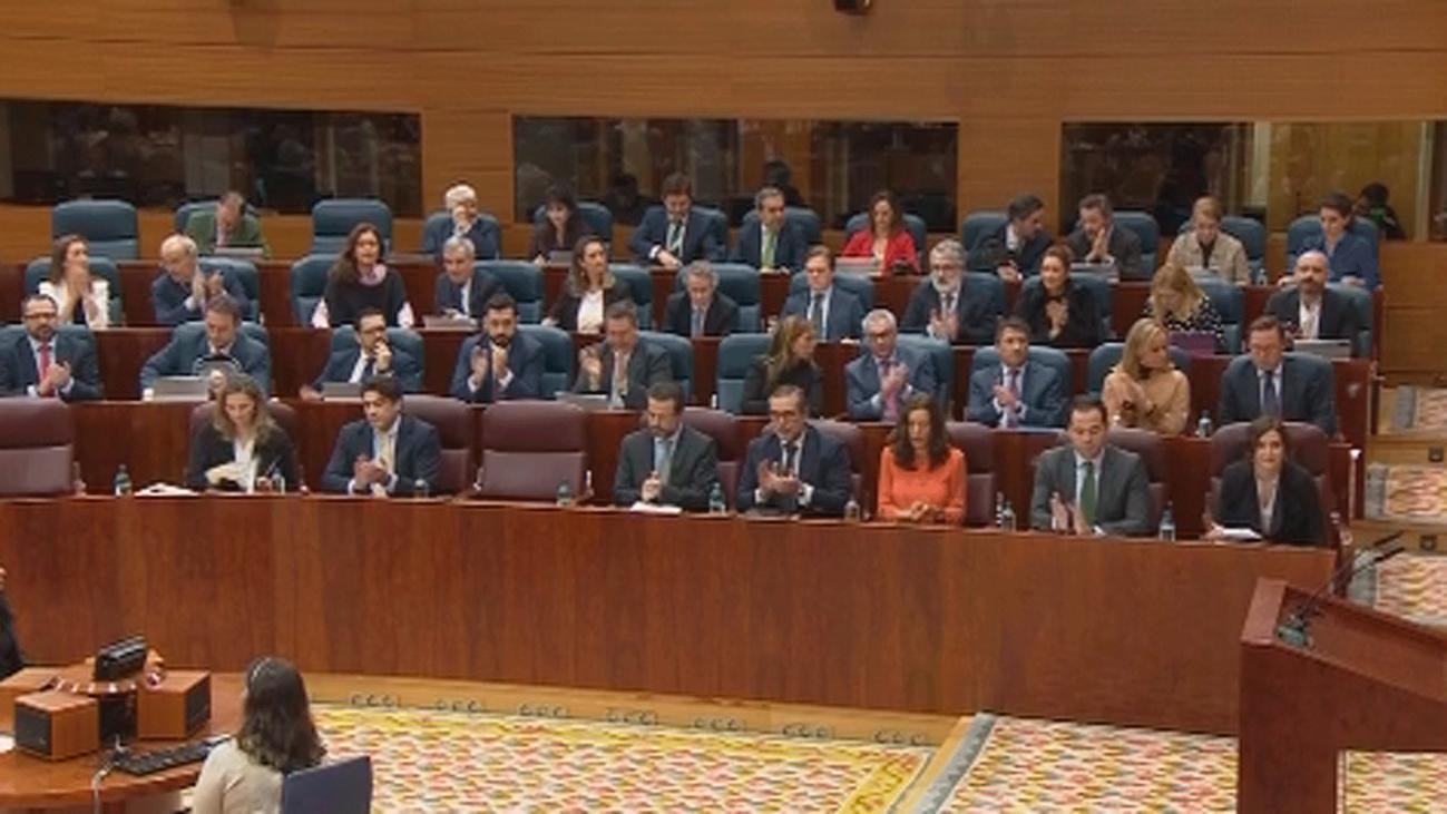 Nuevo rifirrafe entre Ayuso y Monasterio por el 'pin parental' en la Asamblea de Madrid