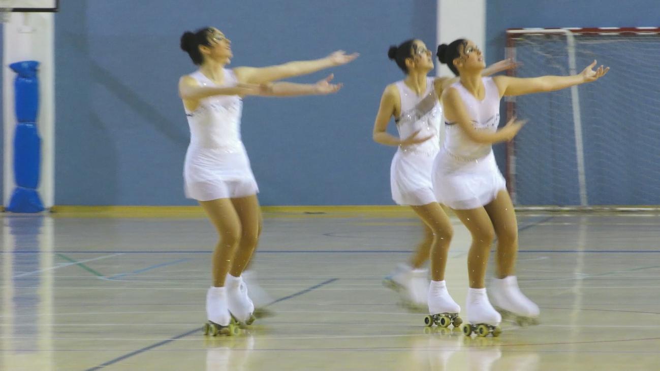El mejor patinaje artístico por grupos sobresale en Coslada