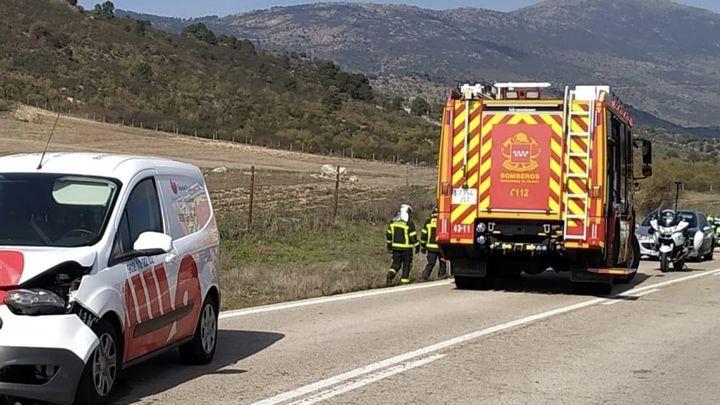 Fallece un motorista en la M-521 en la colisión con un automóvil